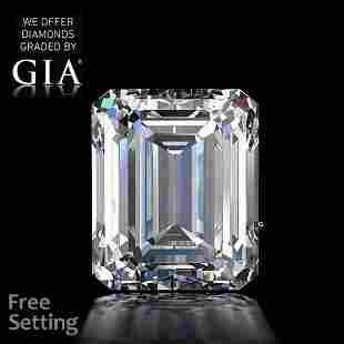 10.51 ct, Color E/VVS2, Emerald cut GIA Graded Diamond