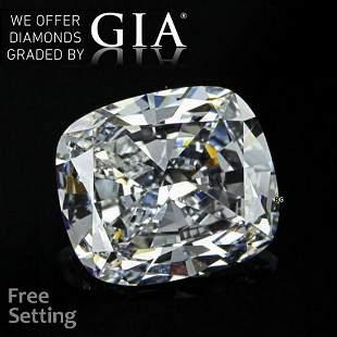 7.02 ct, Color D/VVS2, Cushion cut GIA Graded Diamond