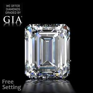 6.06 ct, Color D/FL, TYPE IIa Emerald cut GIA Graded