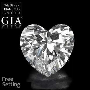 4.05 ct, Color D/VVS2, Heart cut GIA Graded Diamond