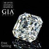 2.08 ct, Color F/VS1, Sq. Emerald cut GIA Graded