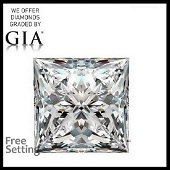 3.02 ct, Color D/IF, Princess cut GIA Graded Diamond