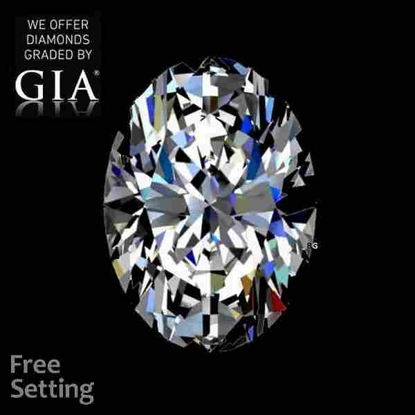 6.03 ct, Color D/VS2, Oval cut GIA Graded Diamond