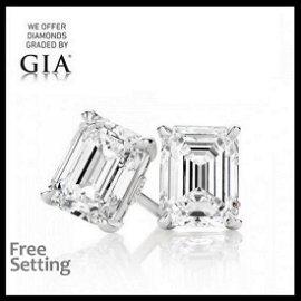 20.21 ct Emerald cut GIA Graded Diamond Pair