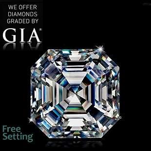 3.02 ct, Color H/VS1, Sq. Emerald cut GIA Graded