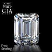 4.04 ct, Color D/FL, TYPE IIa Emerald cut GIA Graded