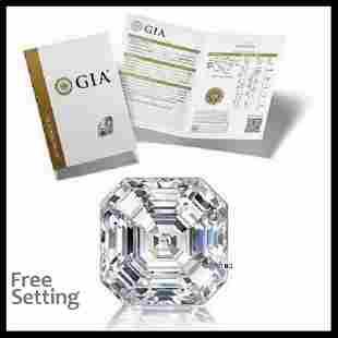 3.01 ct, Color G/VS2, Sq. Emerald cut GIA Graded