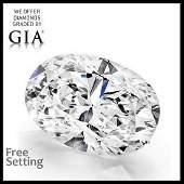 3.51 ct, Color E/VS1, Oval cut GIA Graded Diamond