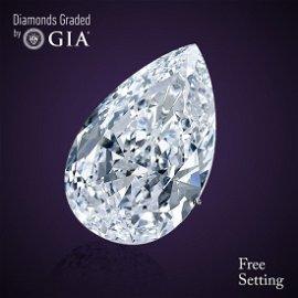 8.43 ct, Color E/VS1, Pear cut GIA Graded Diamond
