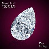 3.01 ct, Color D/VS1, Pear cut GIA Graded Diamond