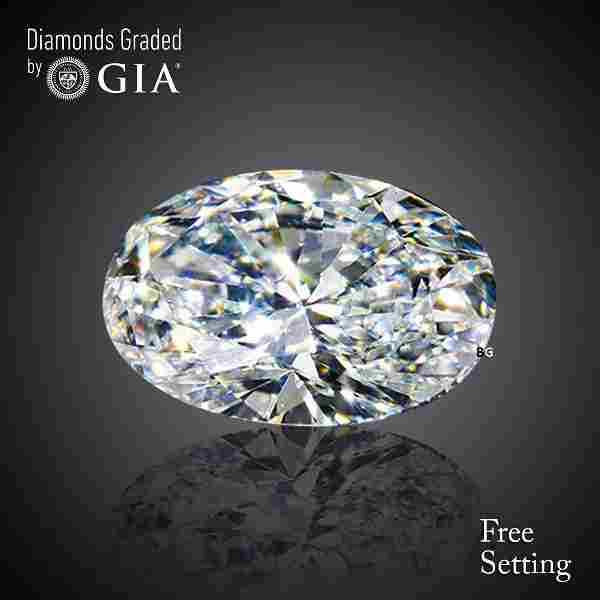 5.01 ct, Color F/VVS2, Oval cut GIA Graded Diamond