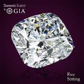 4.03 ct, Color F/VVS2, Cushion cut GIA Graded Diamond