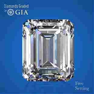 5.04 ct, Color H/VS1, Emerald cut GIA Graded Diamond
