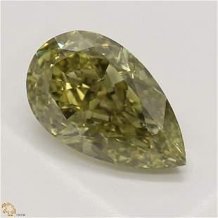 2.20 ct, Brown Green Yellow/SI1, Pear cut GIA Graded