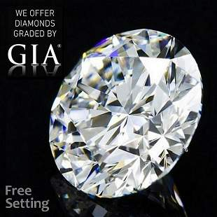 5.01 ct, Color E/VVS2, Round cut GIA Graded Diamond