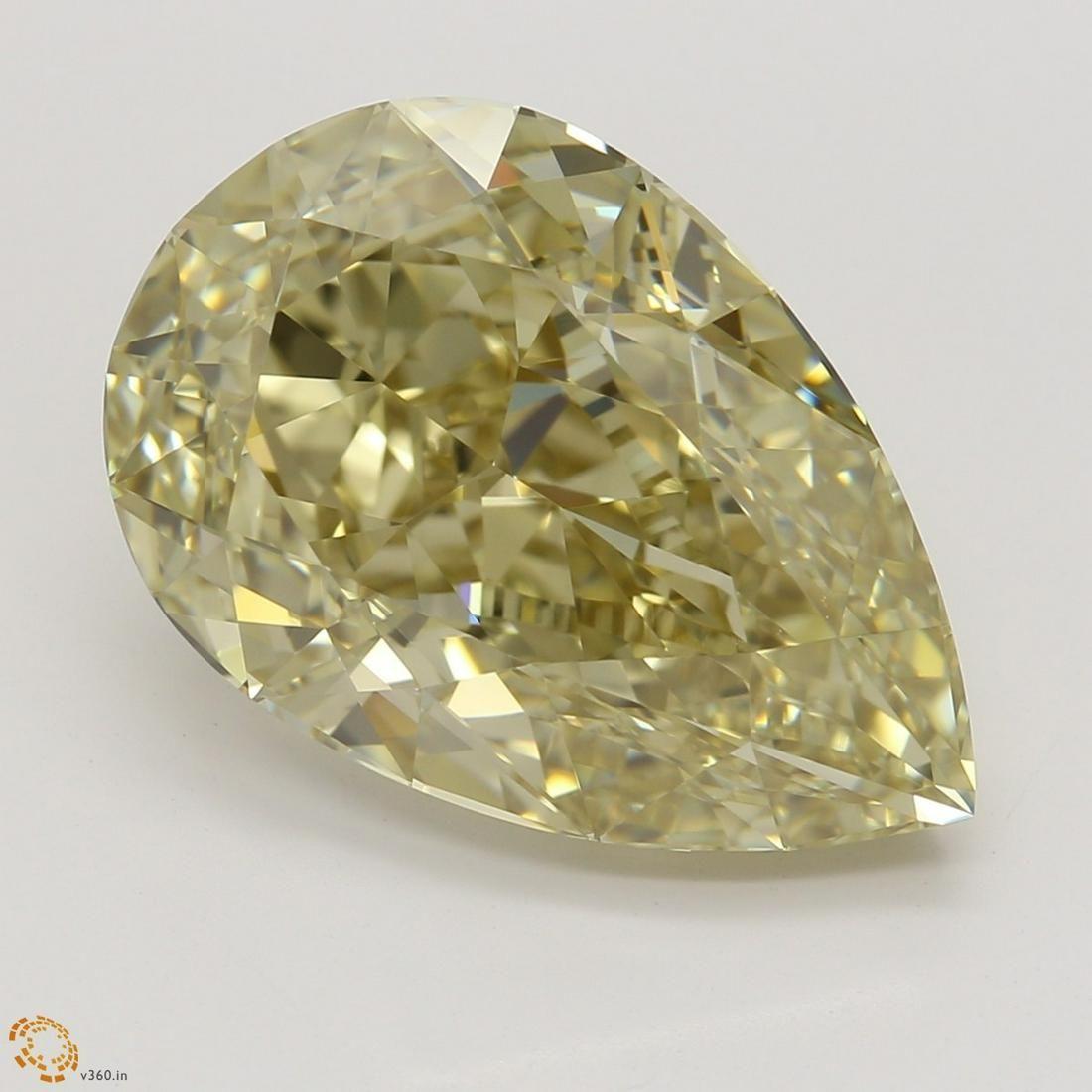 6.01 ct, Brn. Yellow/IF, Pear cut GIA Graded Diamond