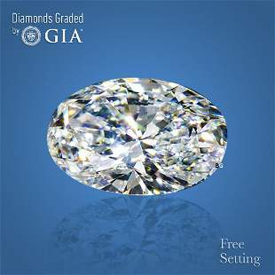 3.02 ct, Color F/IF, Oval cut GIA Graded Diamond