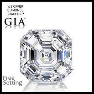 3.02 ct, Color F/VS1, Sq. Emerald cut GIA Graded