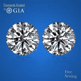 3.40 ct Round cut GIA Graded Diamond Pair