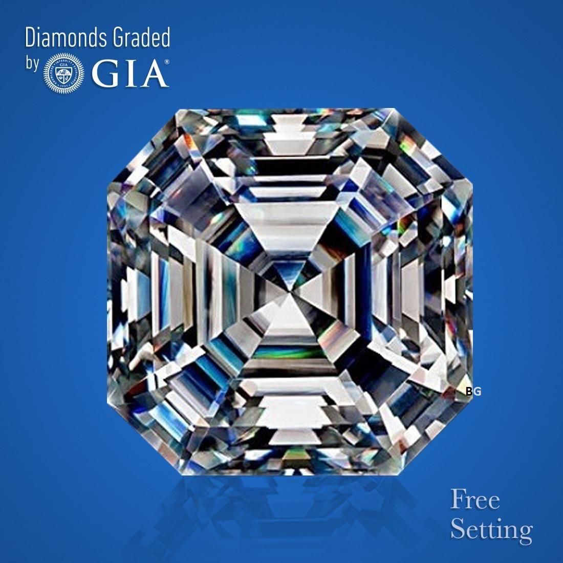 1.70 ct, Color F/VVS2, Sq. Emerald cut GIA Graded
