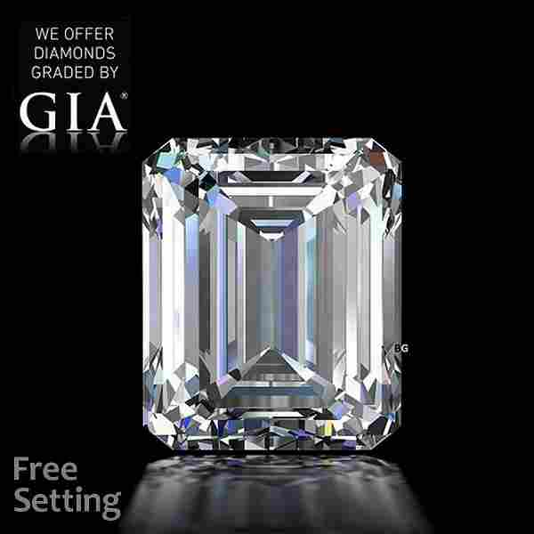 2.20 ct, Color F/VS2, Emerald cut GIA Graded Diamond