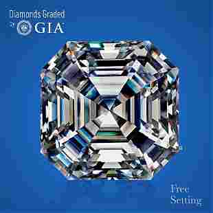 3.60 ct, Color F/VS1, Sq. Emerald cut GIA Graded