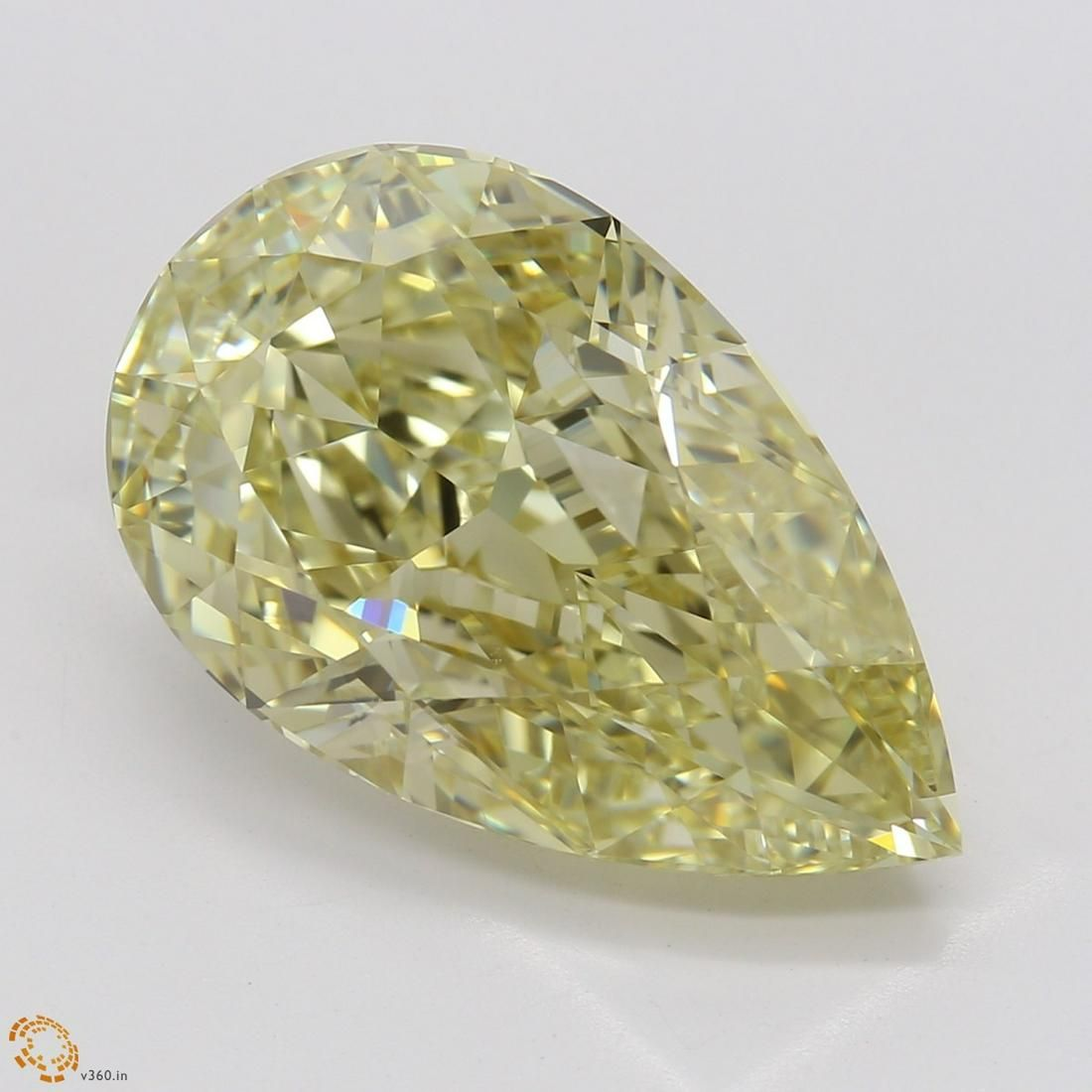 6.21 ct, Brn. Yellow/IF, Pear cut GIA Graded Diamond