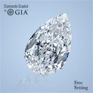 1.51 ct, Color D/VS2, Pear cut GIA Graded Diamond