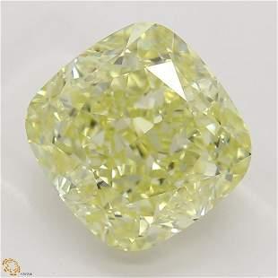 3.03 ct, Yellow/IF, Cushion cut GIA Graded Diamond