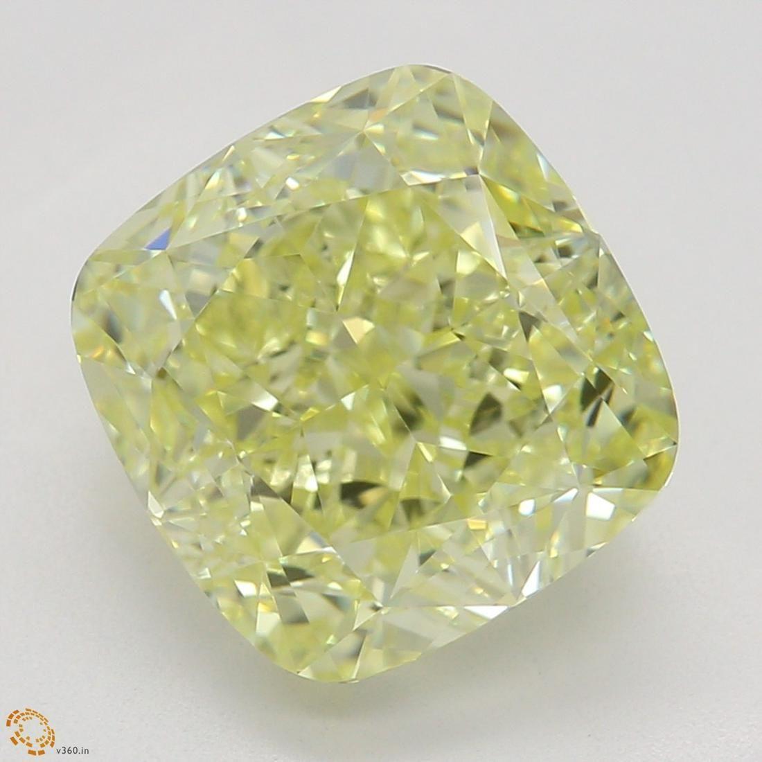 3.12 ct, Yellow/VVS2, Cushion cut GIA Graded Diamond