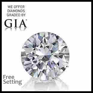 2.22 ct, Color E/VVS2, Round cut GIA Graded Diamond