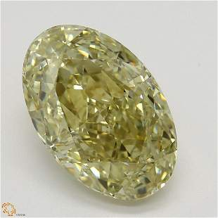 4.36 ct, Brn. Yellow/VS1, Oval cut GIA Graded Diamond
