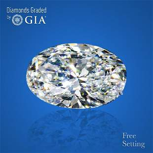 5.01 ct, Color D/IF, Oval cut GIA Graded Diamond