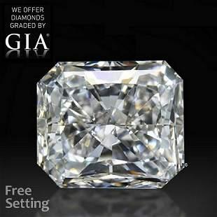 1.80 ct, Color D/VVS2, Radiant cut GIA Graded Diamond