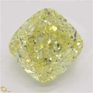 3.01 ct, Yellow/SI1, Cushion cut GIA Graded Diamond