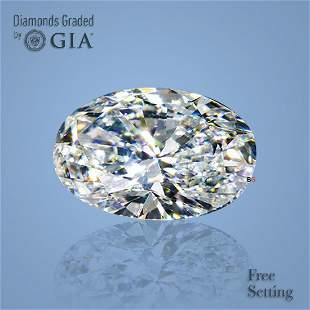 2.00 ct, Color I/VS1, Oval cut GIA Graded Diamond