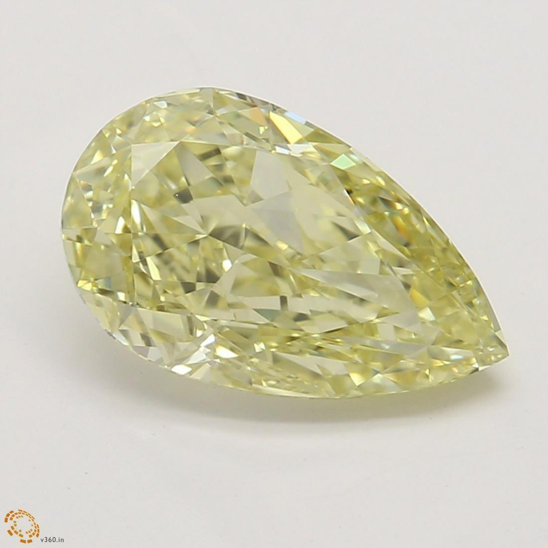 1.35 ct, Yellow/VVS1, Pear cut GIA Graded Diamond