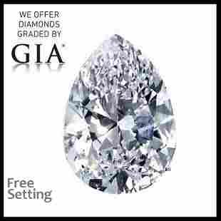 1.51 ct, Color D/VS1, Pear cut GIA Graded Diamond