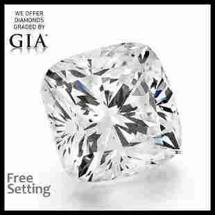 4.01 ct, Color F/VVS2, Cushion cut GIA Graded Diamond