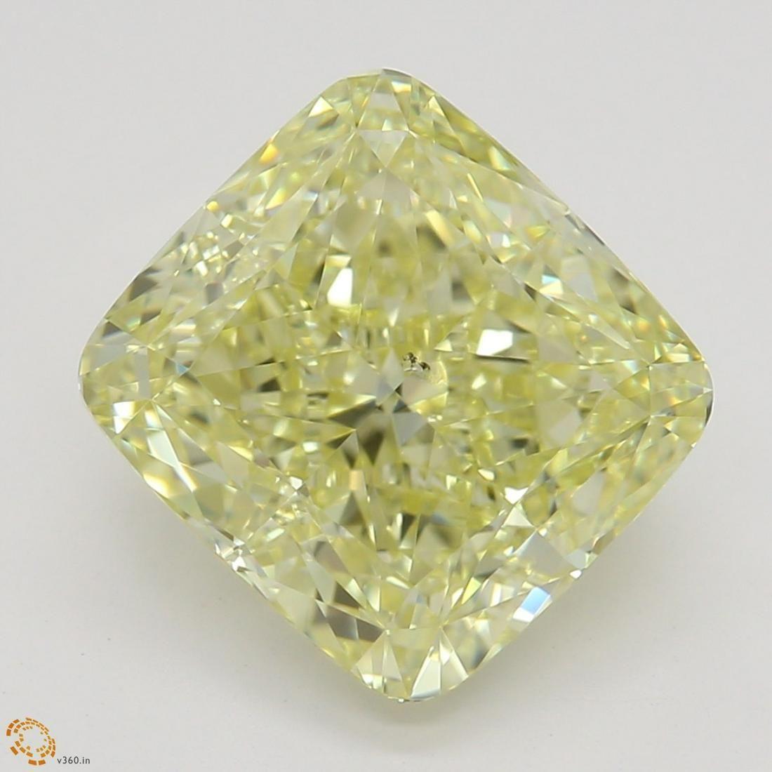 3.03 ct, Yellow/SI2, Cushion cut GIA Graded Diamond