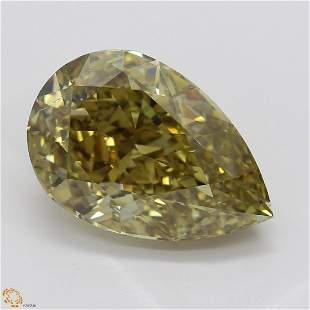 3.01 ct, Brown Yellow/VS2, Pear cut GIA Graded Diamond