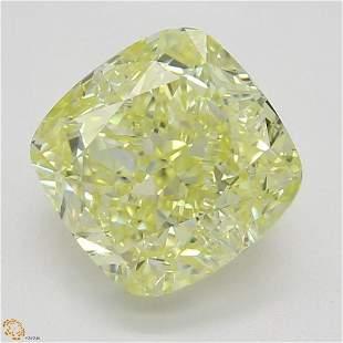 1.56 ct, Yellow/VVS1, Cushion cut GIA Graded Diamond