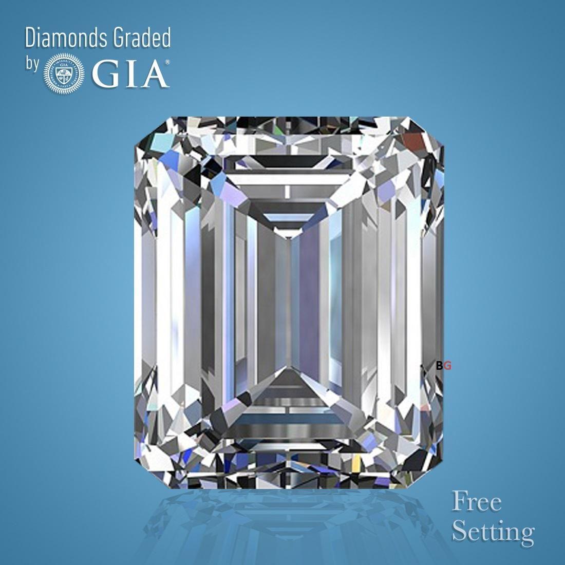 3.02 ct, Color D/VVS2, Emerald cut GIA Graded Diamond