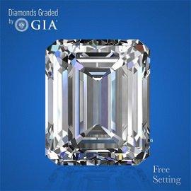 10.08 ct, G/VVS1, Emerald cut GIA Graded Diamond.