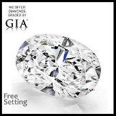 5.12 ct, D/FL, TYPE IIa Oval cut GIA Graded Diamond.