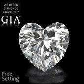 4.01 ct, D/VS1, Heart cut GIA Graded Diamond. Appraised