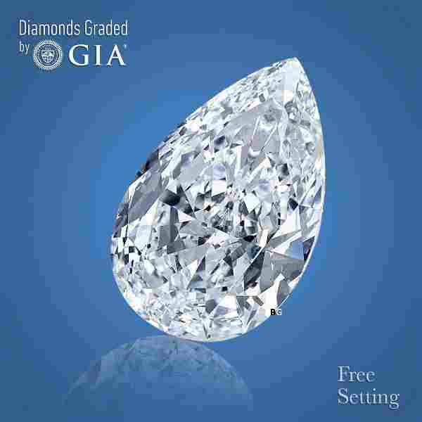 3.17 ct, Color D/VVS2, Pear cut GIA Graded Diamond