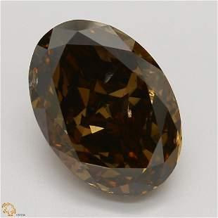 3.53 ct, Brown/SI2, Oval cut GIA Graded Diamond