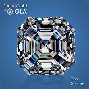 5.01 ct, Color E/VVS1, Sq. Emerald cut GIA Graded