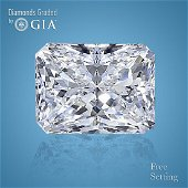 7.06 ct, Color F/VS2, Radiant cut GIA Graded Diamond
